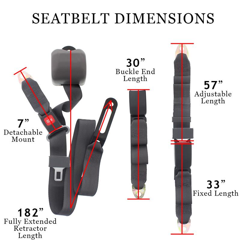 Conversion Van Sofa Detachable Seat Belt Measurements