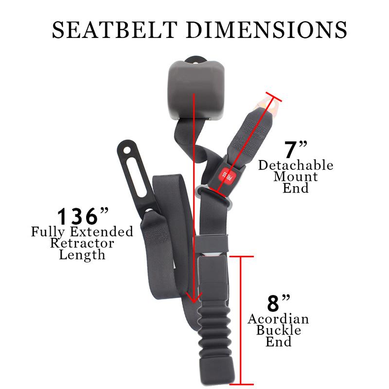 Conversion Van Captains Seat Belt Measurements