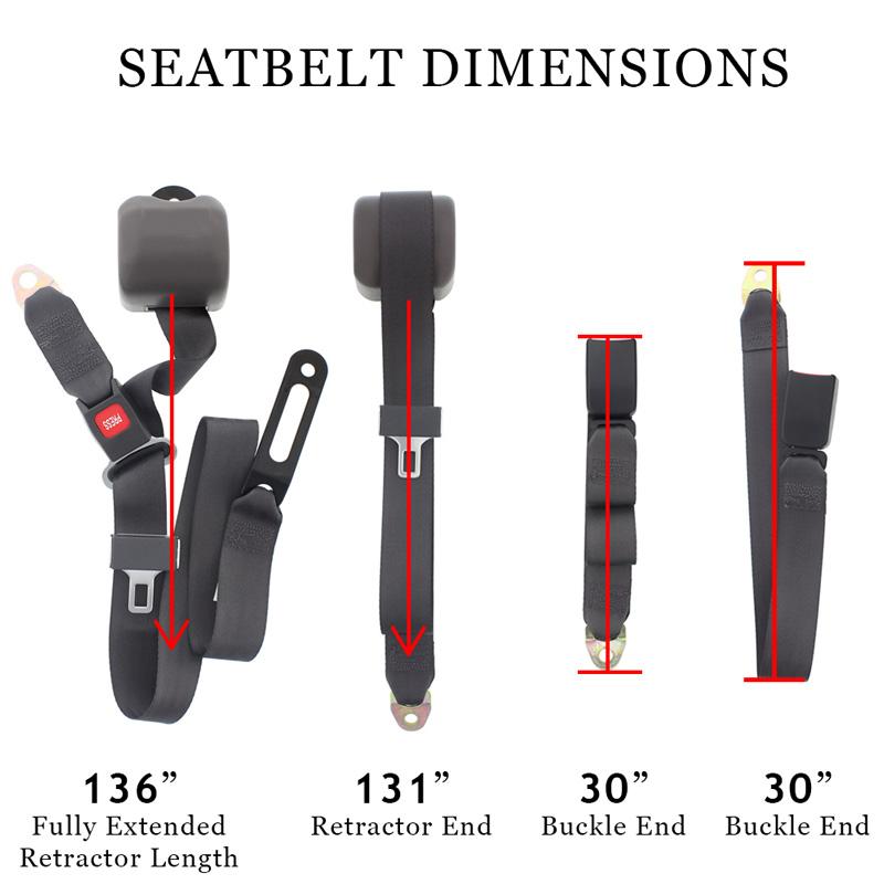 Conversion Van Sofa 3 Seat Belt Measurements