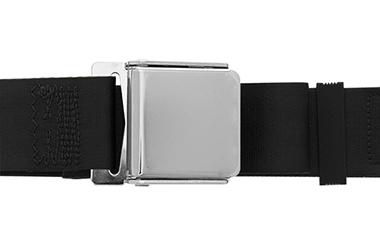 Lap Seat Belt, Chrome Lift Latch, 60 Inch Length