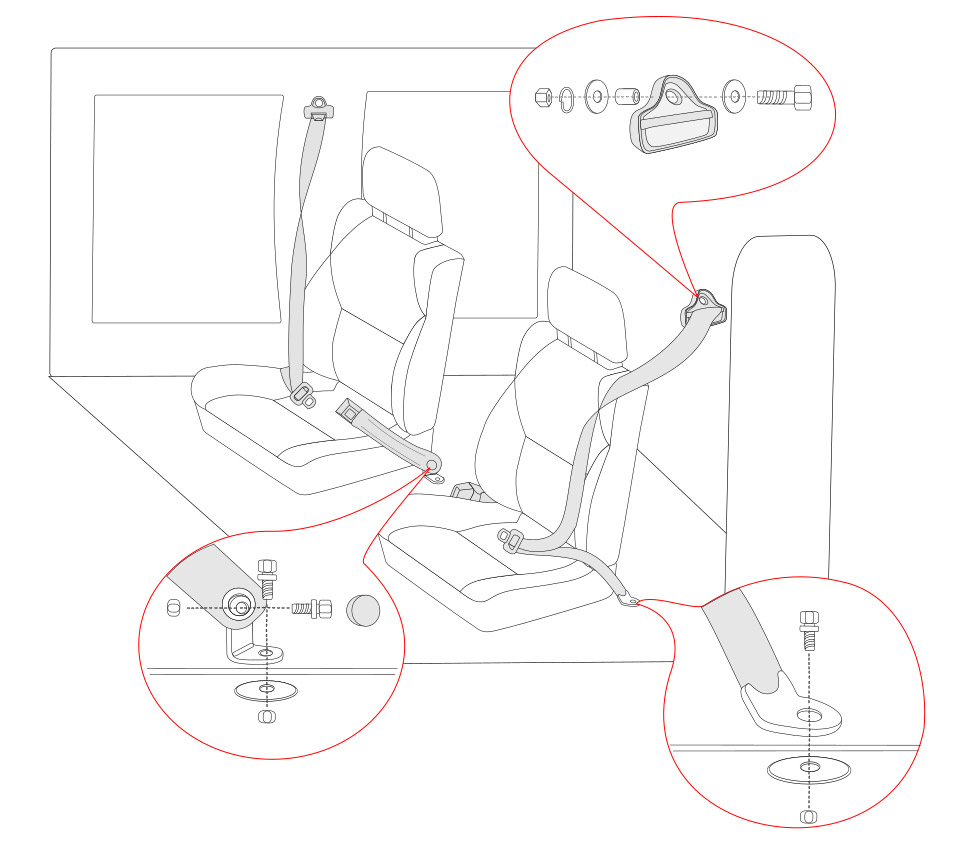 3 Point Lap And Shoulder Seat Belt Diagram