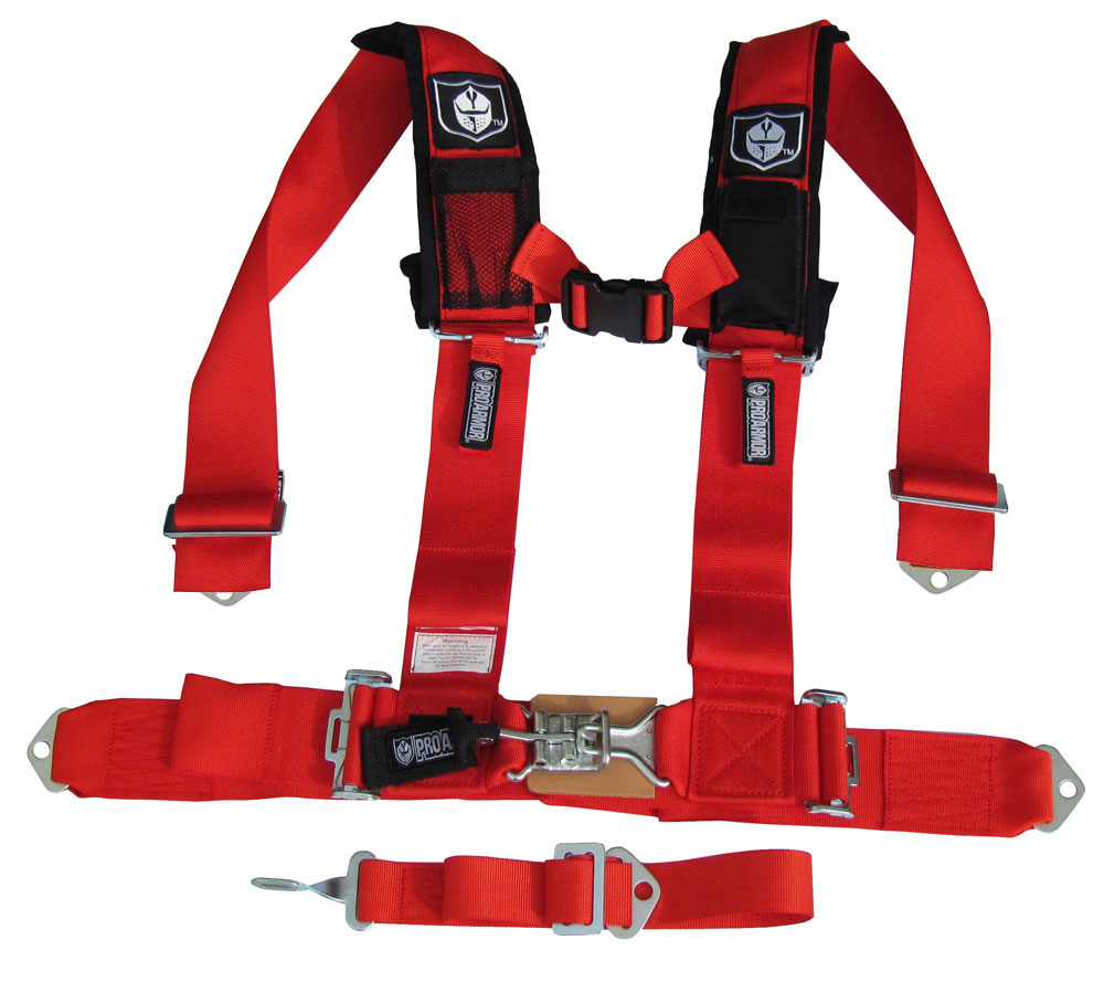 "5 Point Harness Car Seat >> Pro Armor 5-Point ""H"" Style Harness, 3"" Wide, Red: Replacement Seatbelts, Seat Belts ..."