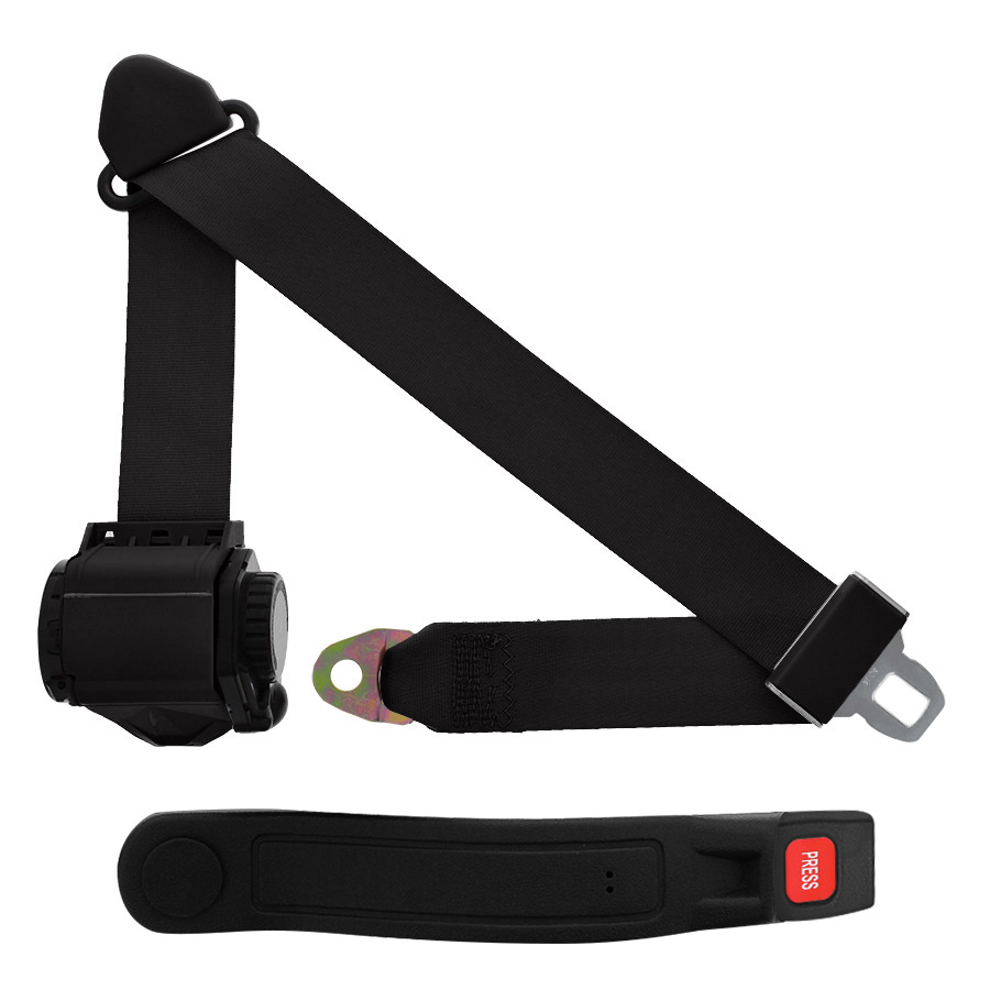 VW Beetle Campervan Inertia Rear Seat Belt with Blue Webbing