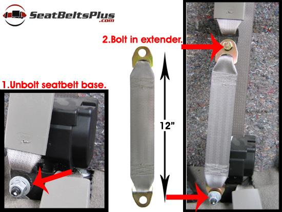 12 Quot Seat Belt Extender Bolt In Replacement Seat Belts