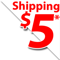 $5 Dollar Flat Rate Shipping on all orders in the continental US.
