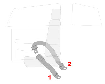 2 Point Lap Seat Belts
