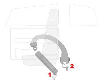 2 Point Retractable Lap Seat Belts